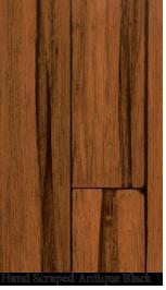 Bamboo floor hand scraped