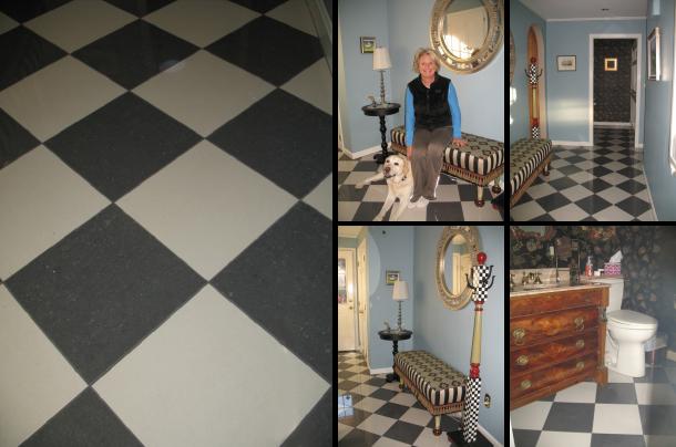 Rye New Hampshire Black & White Tile
