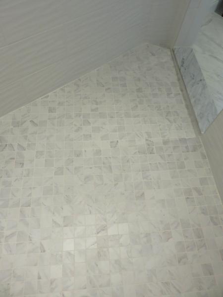 Guest-Bath-2x2-Porcelain-Carrara-Tile-with-Bright-White-Grout